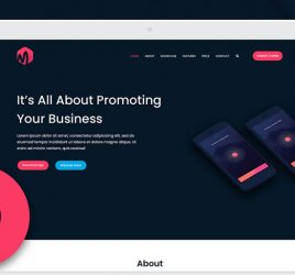 App Landing page template for XD