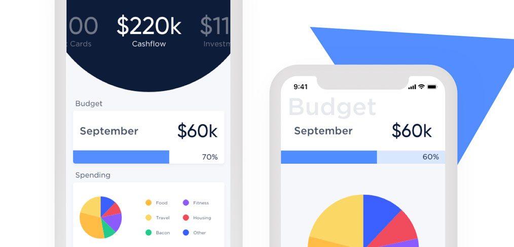Finance mobile app concept