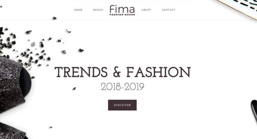 Free Fashion website template