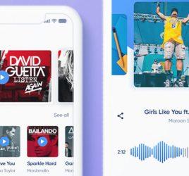 Free XD music app concept