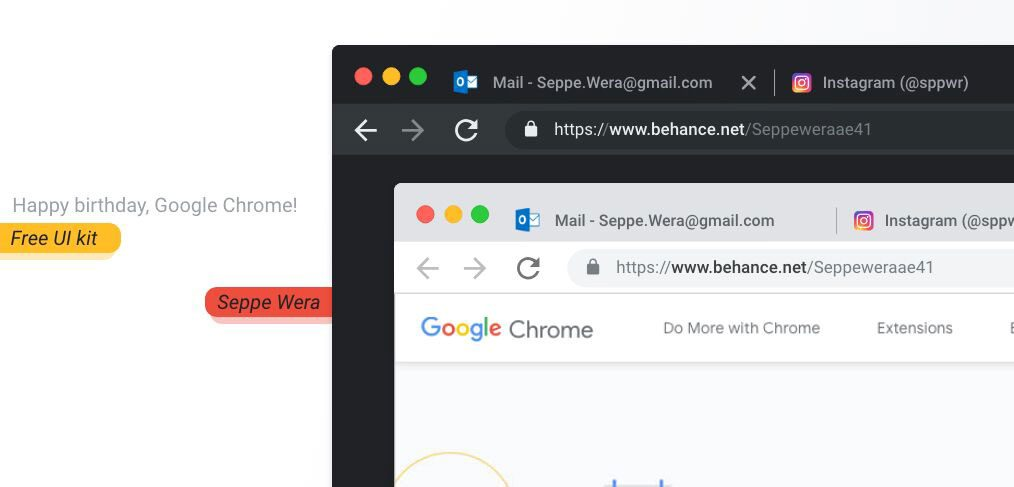 New Chrome XD Mockup - XDGuru com