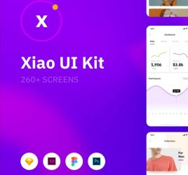 Xiao - 260 screens UI kit (Premium)