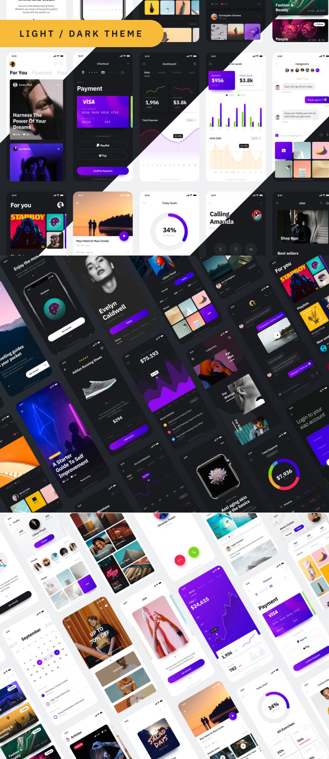 Xiao - 260 screens UI kit Highlights