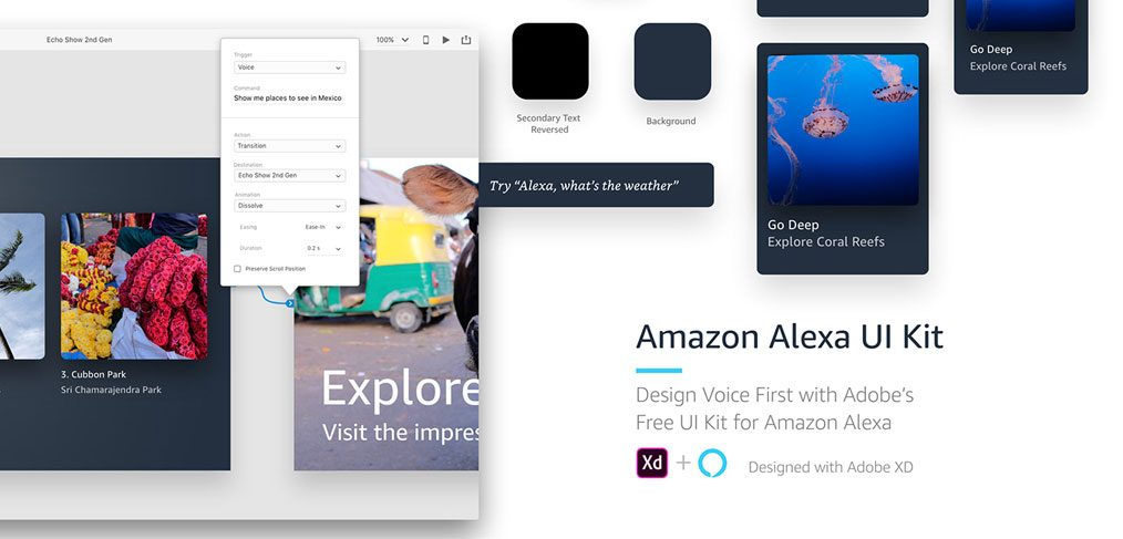 Amazon Alexa Free UI Kit for XD - XDGuru com