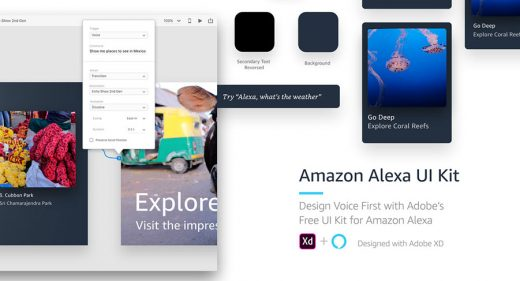Amazon Alexa Free UI Kit for XD