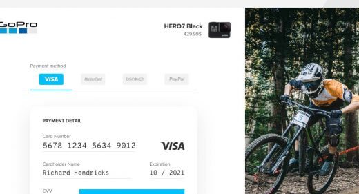 Credit Card Checkout UI screen