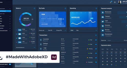 Dark Finance Dashboard template