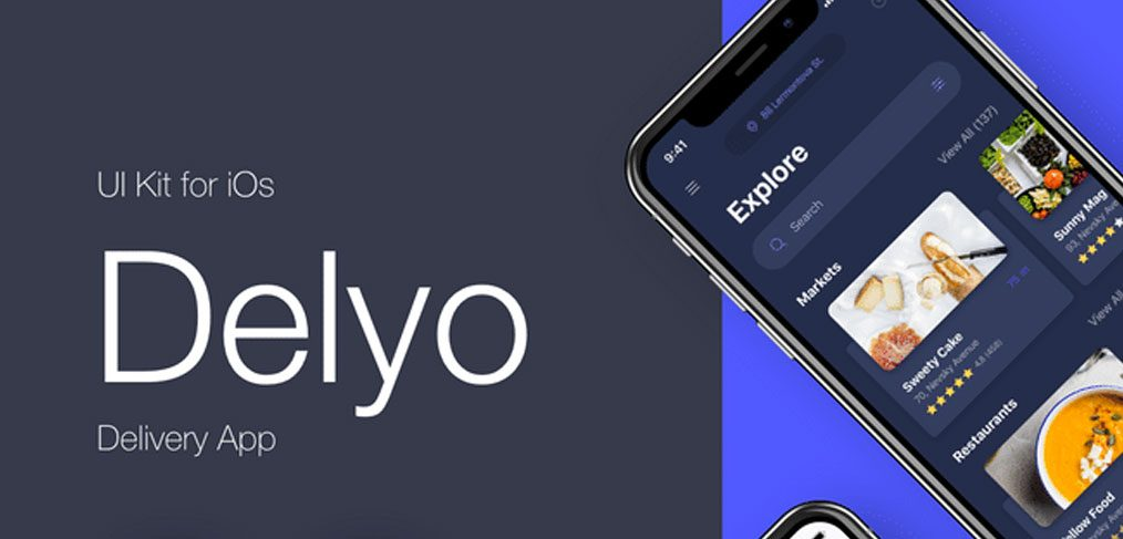 Delyo - Food delivery app UI Kit
