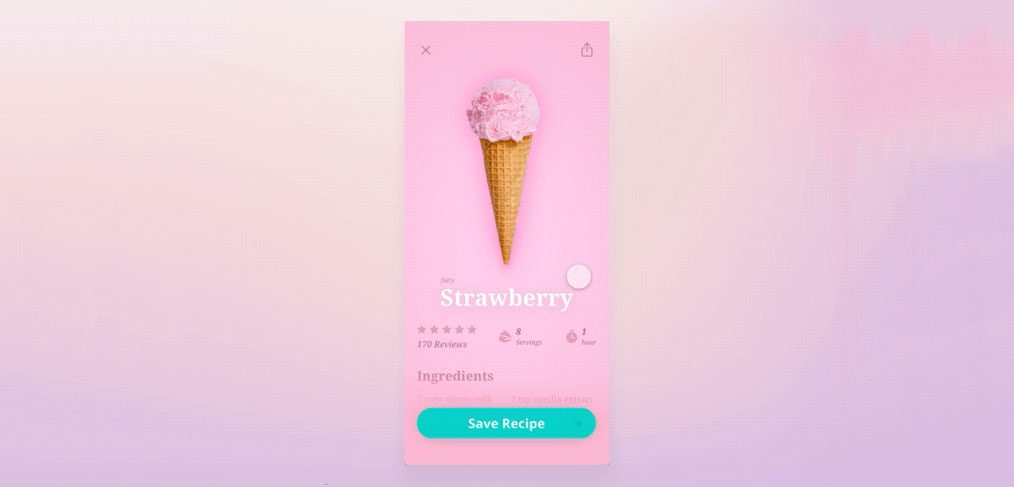 Ice Cream App animation