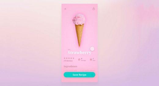 Ice Cream App animation