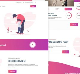 Child Care Homepage XD Template