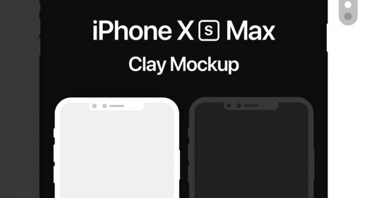iPhone XD Max Clay Mockup