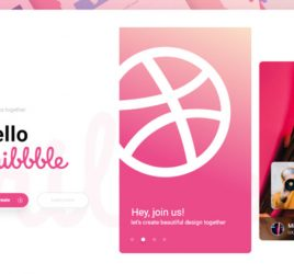 Dribbble login/signup page