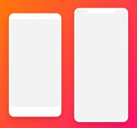Minimal White Smartphone Mockups
