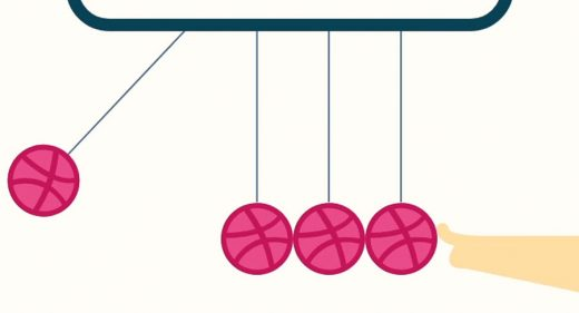Newton's Cradle XD Animation