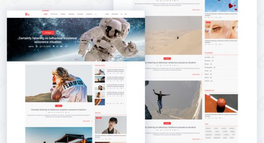Blog feed web XD template