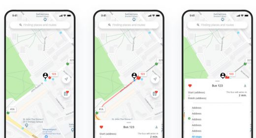 Bus tracking app concept
