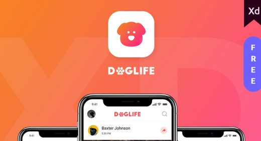 Doglife - A free UI kit for Adobe XD