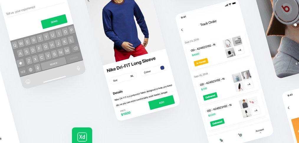 Free XD ecommerce UI kit