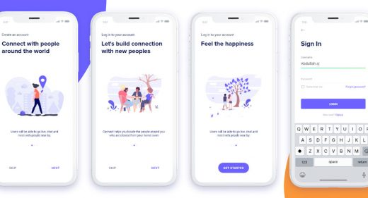 Mobile Onboarding screens templates
