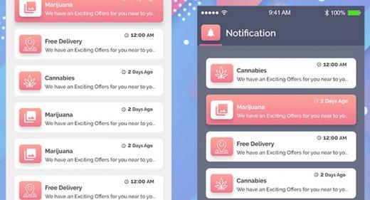 Notification app screens