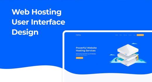 Web hosting free XD landing page