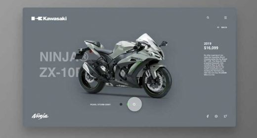 Motorbike website animation