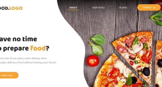 Adobe XD food website template