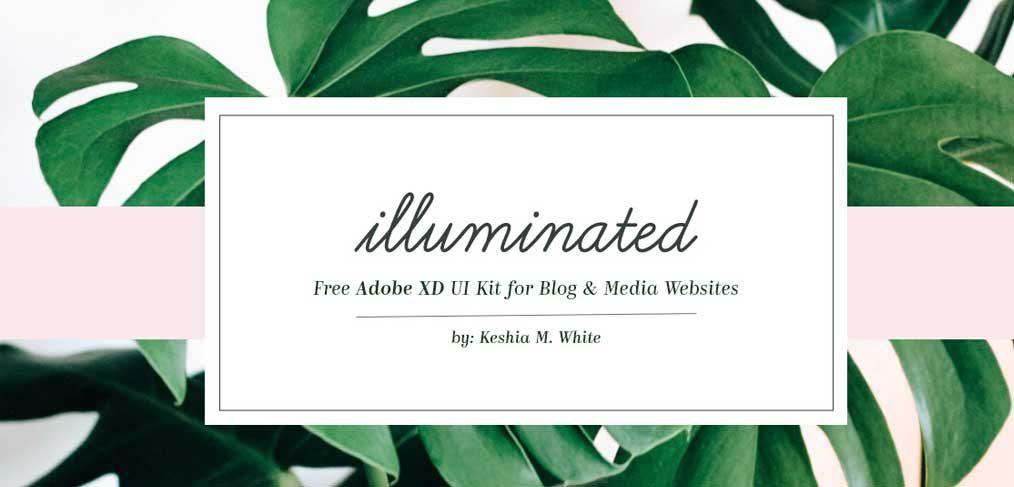 Blog, Media Website Free UI kit