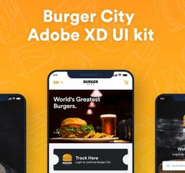 Burger City - Free UI kit for XD