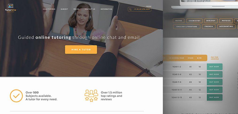 Educational website landing template
