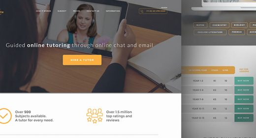 Educational website landing template