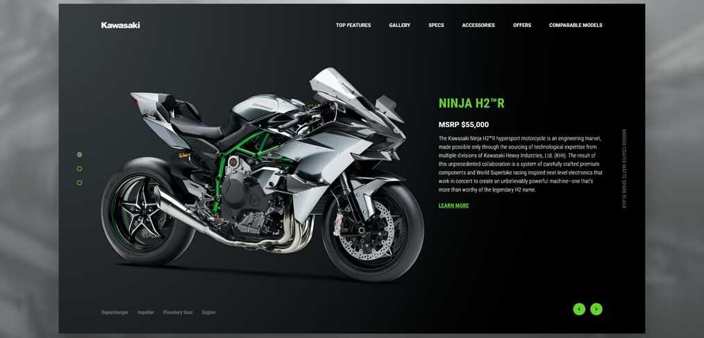 Kawasaki Ninja homepage concept
