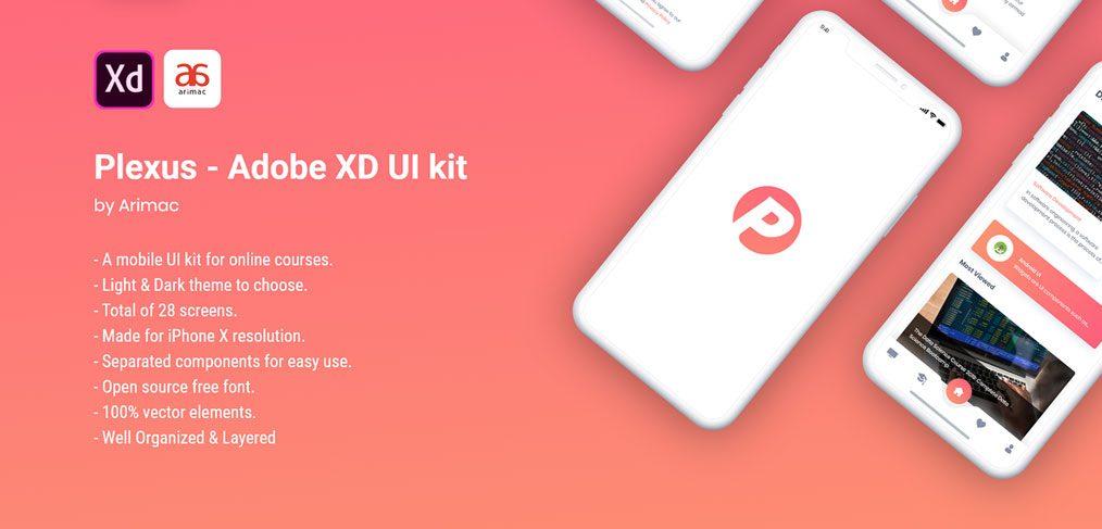 Plexus - Free UI kit for XD