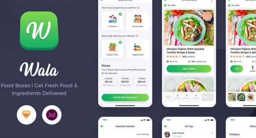 Wala - Premium Food UI kit for XD