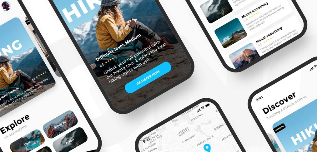 Activity Outdoors XD mobile app concept