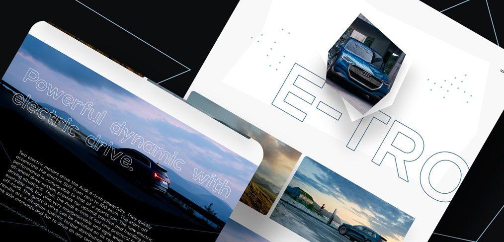Audi e-Tron XD landing page