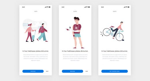 Flat onboarding illustrations