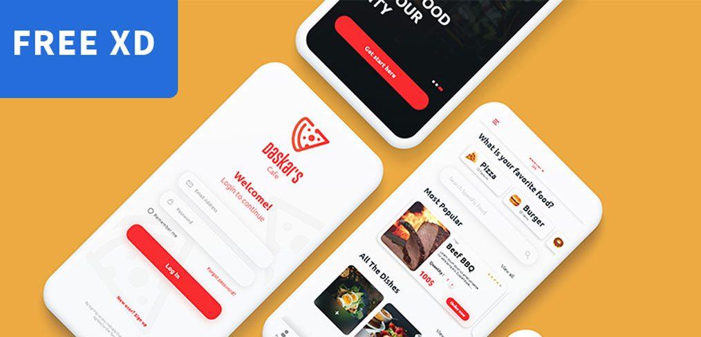 Food Ordering App XD Template