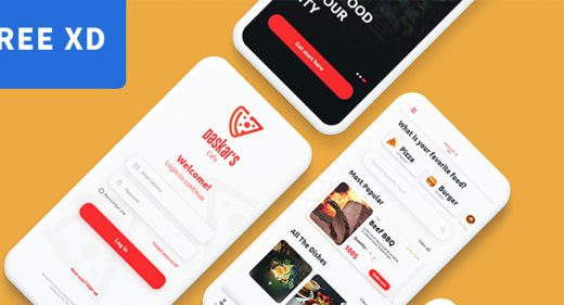 Food Ordering App XD Template