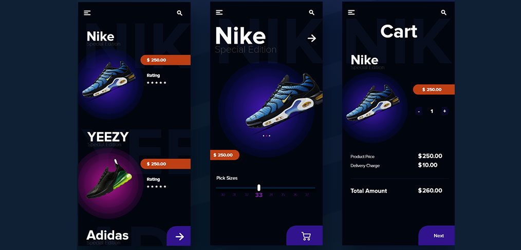 Shoes e-commerce XD concept