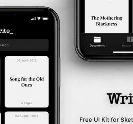 Write - Free XD Mobile UI kit