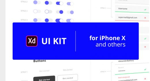 XD mobile UI elements kit
