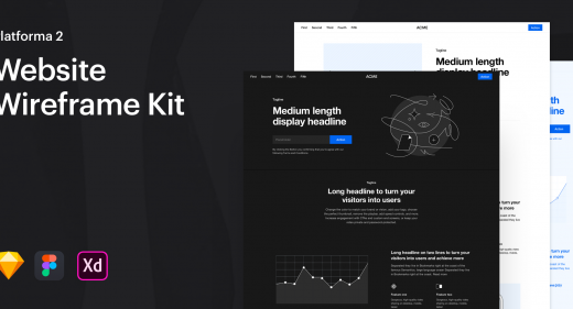 Adobe XD Wireframe kits and templates - XDGuru com