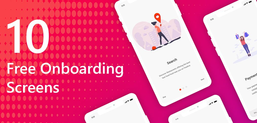 Free onboarding screens for XD
