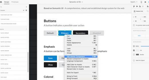 Free semantic UI kit for XD
