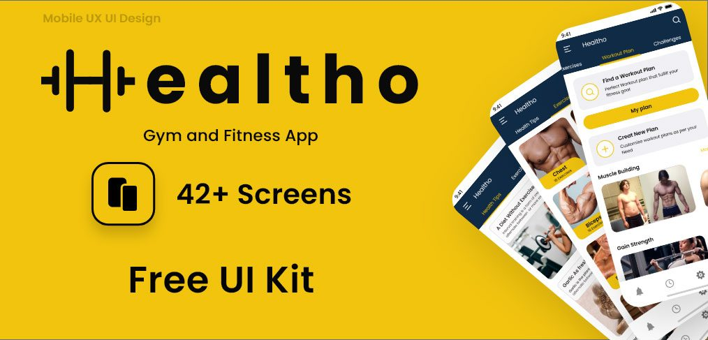 Healtho Gym and Training App Concept