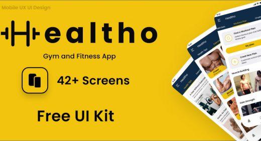 Healtho Gym and Training App Concept