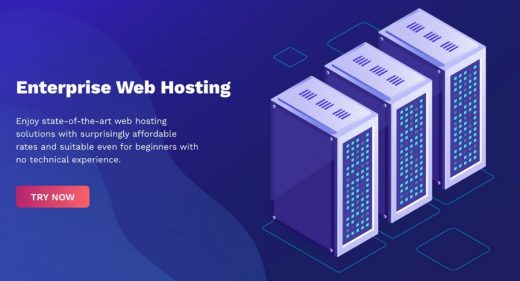 Web hosting XD landing page
