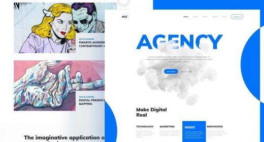 Agency homepage template